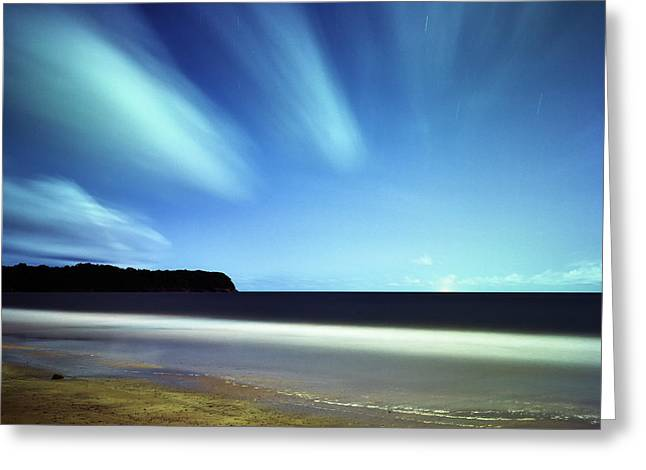 Linear Clouds Over Mayaro Greeting Card