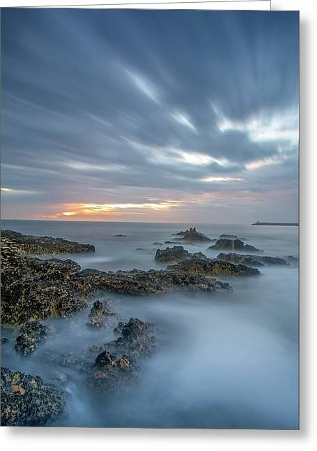 Greeting Card featuring the photograph Lines - Matosinhos 2 by Bruno Rosa