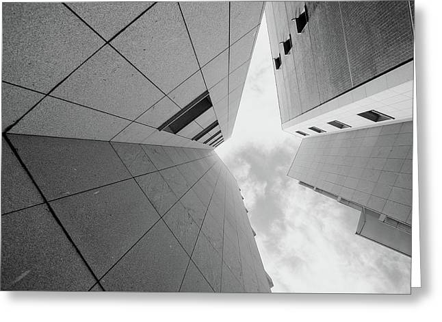 Greeting Card featuring the photograph Lines - Matosinhos by Bruno Rosa