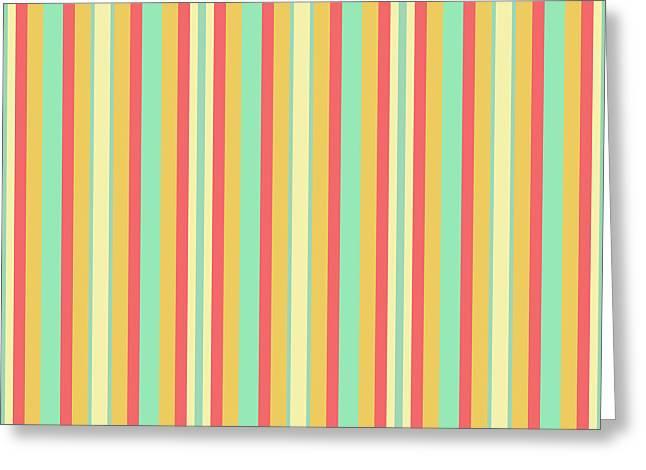 Lines Or Stripes Vintage Or Retro Color Background - Dde589 Greeting Card