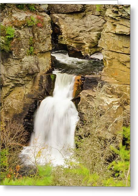 Linville Falls - Closeup Greeting Card