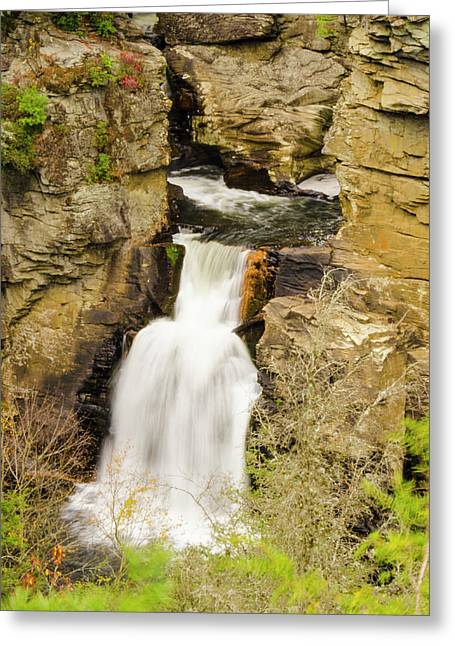 Linville Falls - Closeup Greeting Card