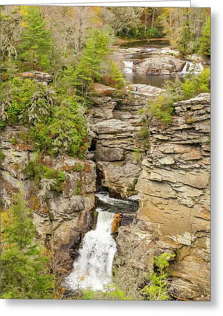 Linville Falls - Vertical Greeting Card