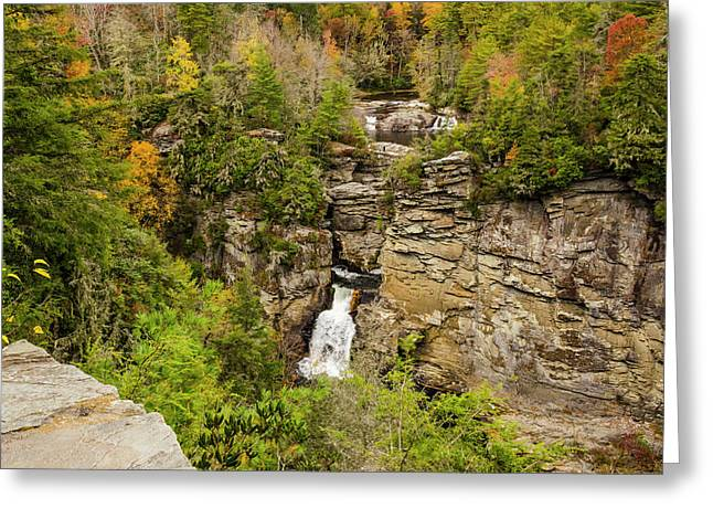 Linville Falls - Wide View Greeting Card