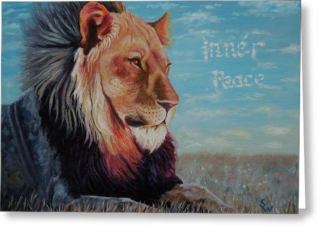 Lion - Inner Peace Greeting Card