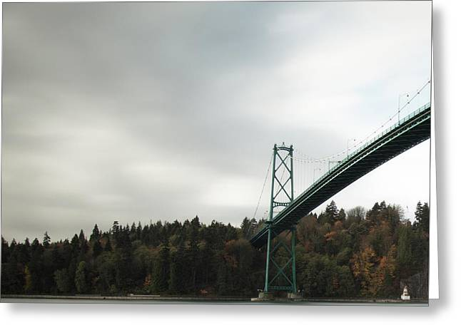 Lions Gate Bridge Vancouver Greeting Card