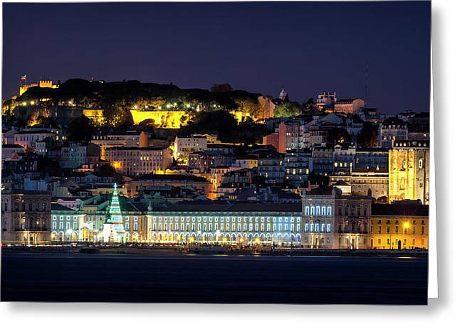Lisbon In Christmas Time Greeting Card