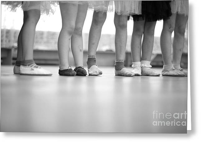 Little Ballerinas Legs Standing In A Greeting Card