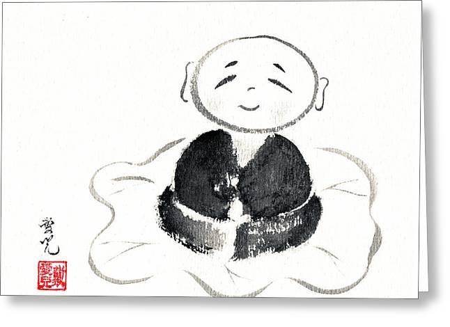 Little Buddha Greeting Card