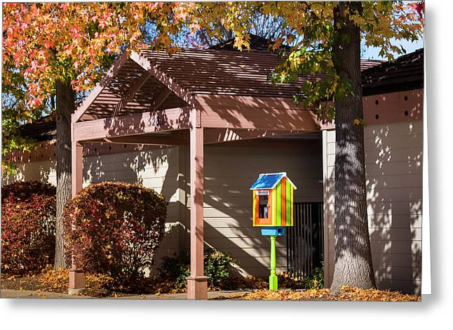 Greeting Card featuring the photograph Little Library 2 by Mark Mille