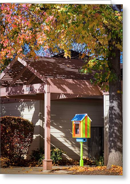 Greeting Card featuring the photograph Little Library by Mark Mille
