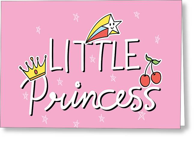 Little Princess - Baby Room Nursery Art Poster Print Greeting Card