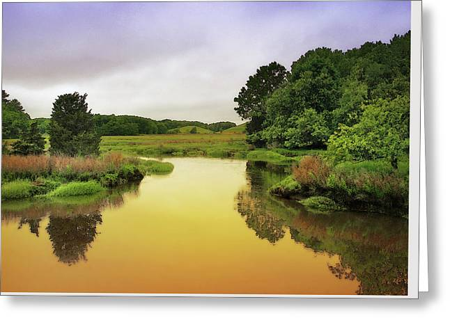 Little River Twilight Greeting Card