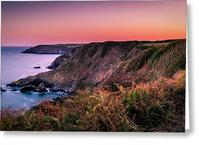 Lizard Point Sunset - Cornwall Greeting Card