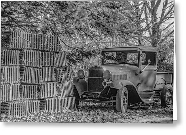 Lobster Pots And Truck Greeting Card