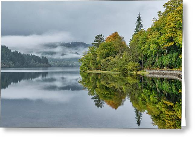 Greeting Card featuring the photograph Loch Ard In Scotland by Jeremy Lavender Photography