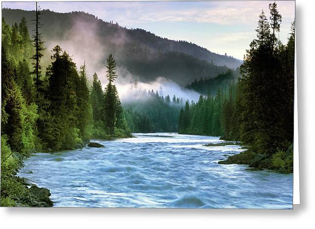 Lochsa River Greeting Card by Leland D Howard