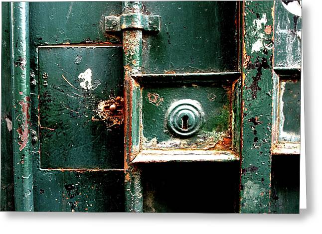 Greeting Card featuring the photograph Lock by Edward Lee