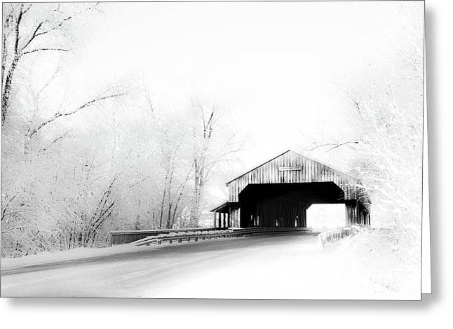 Greeting Card featuring the photograph Lockport Covered Bridge by Michael Arend