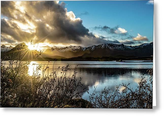 Lofoten Sunset Greeting Card