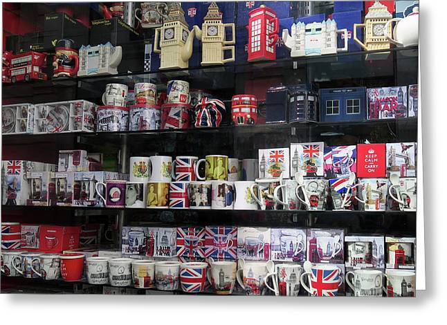 Greeting Card featuring the photograph London England Shop Window by Rick Veldman