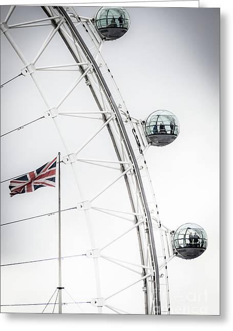London Eye And Union Jack Greeting Card