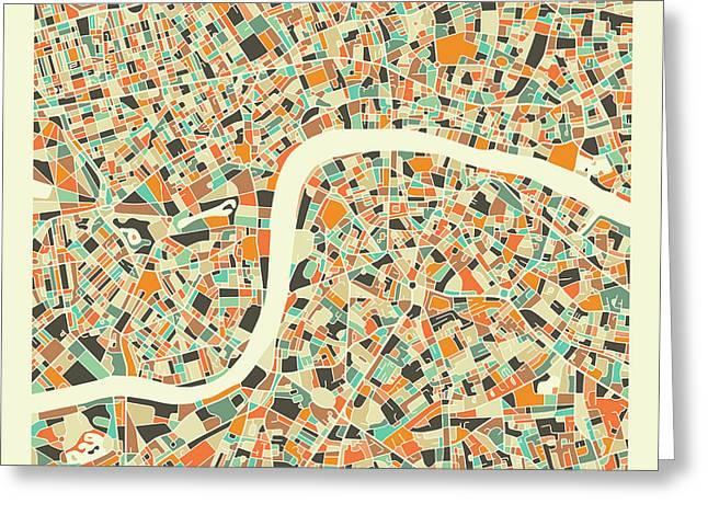 London Map 1 Greeting Card