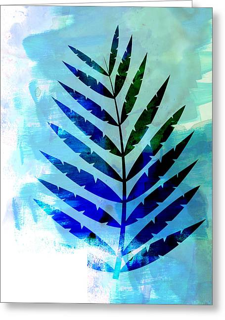Lonely Leaf Watercolor Greeting Card
