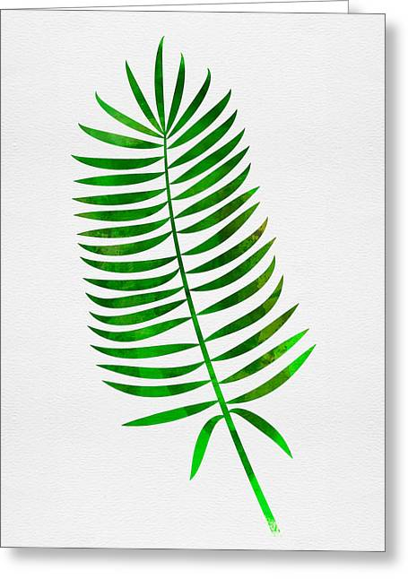 Lonely Tropical Leaf I Greeting Card