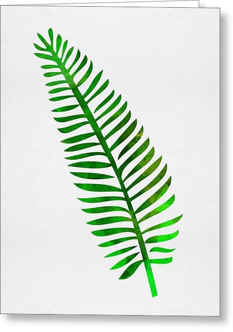 Lonely Tropical Leaf II Greeting Card