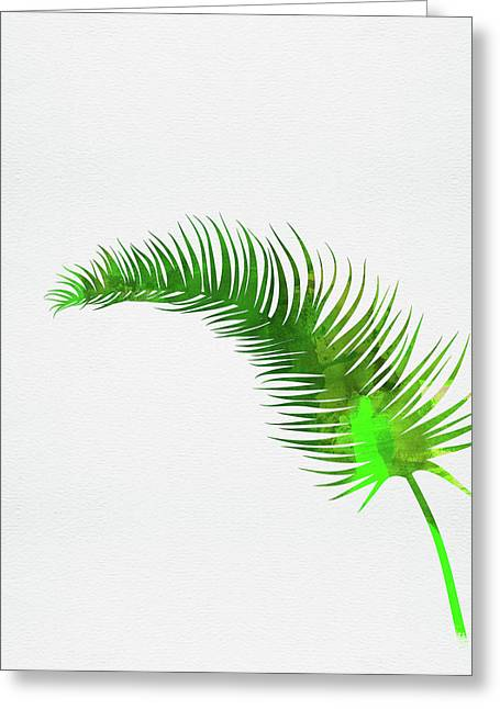 Lonely Tropical Leaf Greeting Card