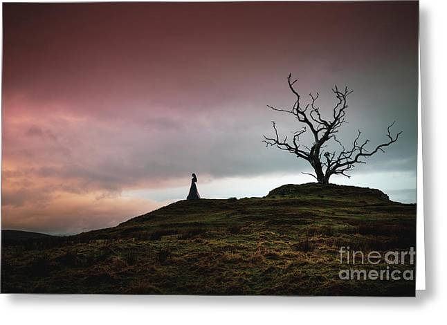 Lonesome Sundown Greeting Card