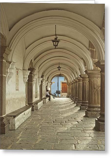 Long Entrance Way In Antiqua Guatemala Greeting Card