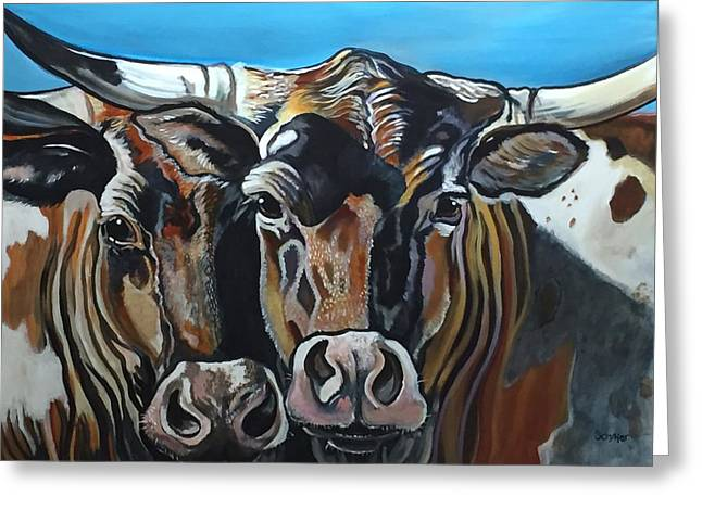 Longhorns, Interrupted Greeting Card