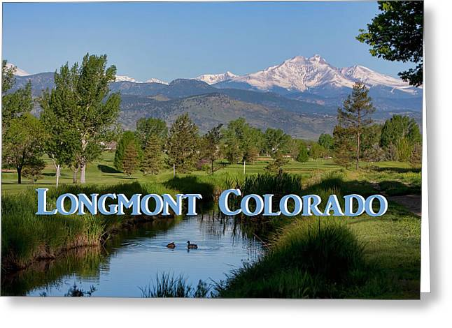 Greeting Card featuring the photograph Longmont Colorado Twin Peaks View Poster by James BO Insogna