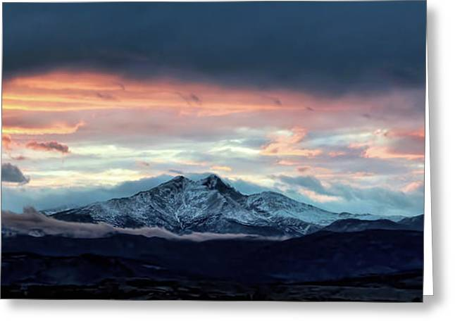 Longs Peak At Sunset Greeting Card