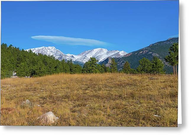 Longs Peak From Upper Beaver Meadows Greeting Card