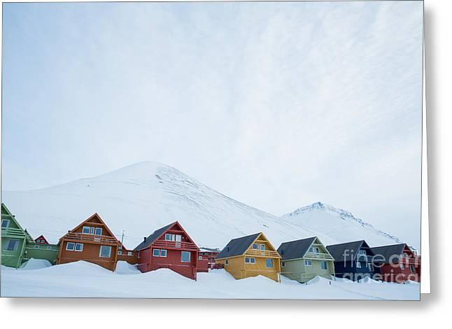 Longyearbyen, Spitsbergen, Norway - Greeting Card