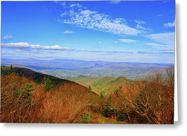 Greeting Card featuring the photograph Looking Towards Vermont And New Hampshire by Raymond Salani III