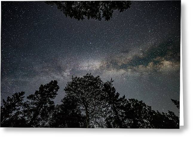 Greeting Card featuring the photograph Looking Up At The Milky Way by Darryl Hendricks