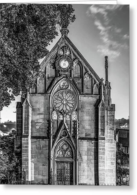 Loretto Chapel Of Santa Fe New Mexico - Monochrome Edition Greeting Card