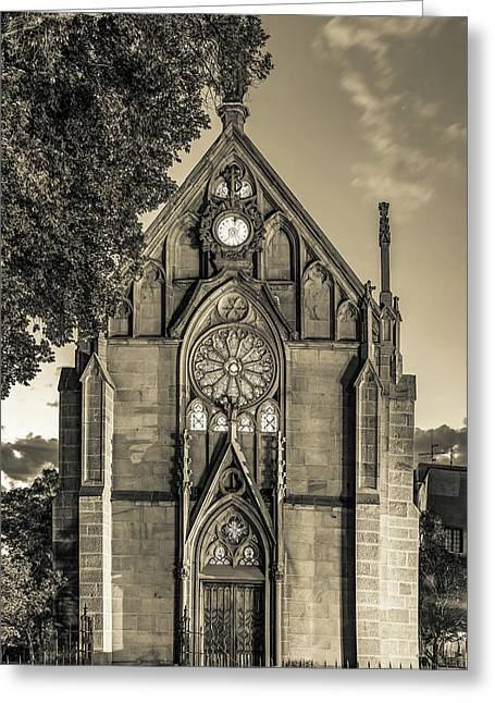 Loretto Chapel Of Santa Fe New Mexico - Sepia Edition Greeting Card