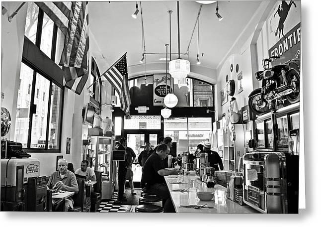 Loris Diner San Francisco Bw Greeting Card