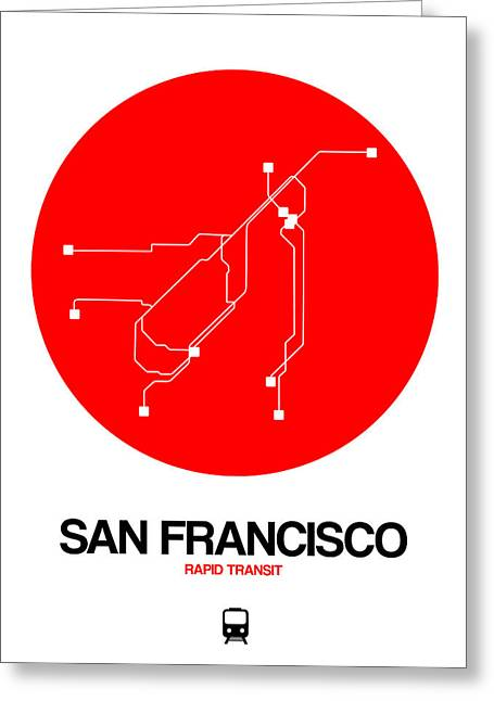 Los Angeles Red Subway Map Greeting Card