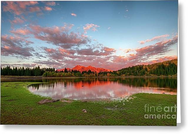 Greeting Card featuring the photograph Lost Lake Sunset by Joe Sparks