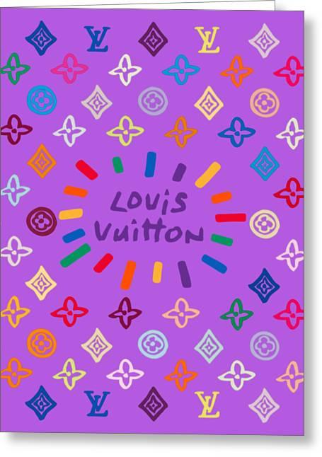 Louis Vuitton Monogram-8 Greeting Card