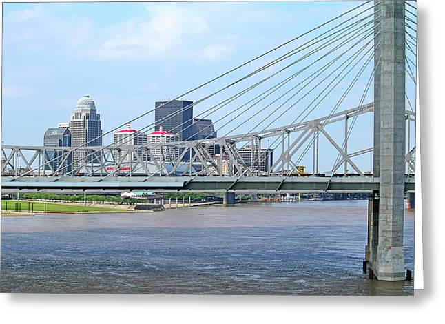 Louisville Across The River Greeting Card