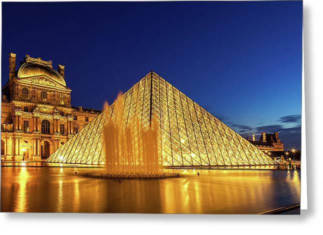 Louvre At Twilight Greeting Card
