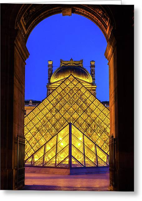Louvre Framed Greeting Card by Andrew Soundarajan