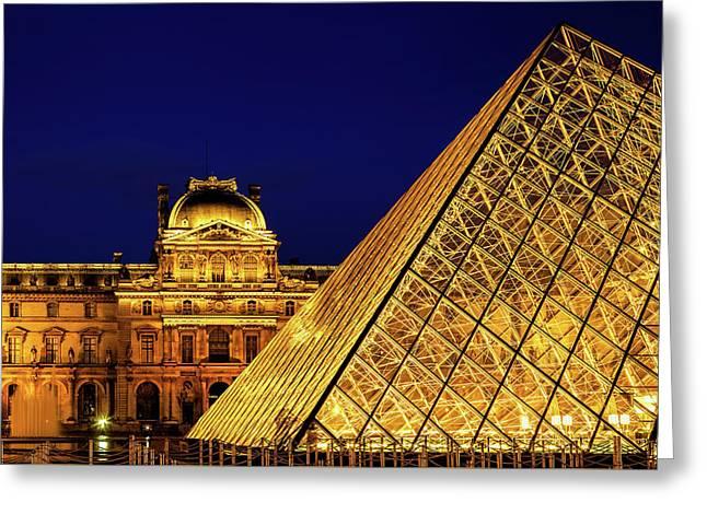 Louvre Illuminated Greeting Card